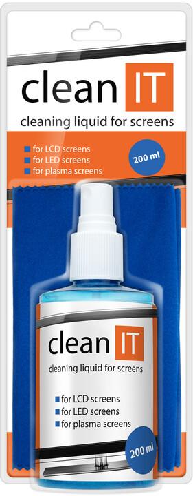 Clean IT na obrazovky s velkou utěrkou, 200ml