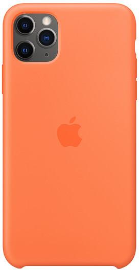 Apple silikonový kryt na iPhone 11 Pro Max, oranžová