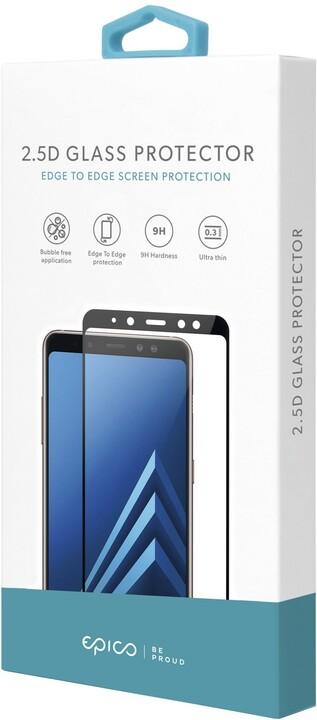 EPICO tvrzené sklo pro iPhone 6/6s/7/8/SE (2020), antibakteriální, 2.5D, černá