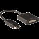 C-TECH adaptér DisplayPort - DVI 24+5, M/F, černá