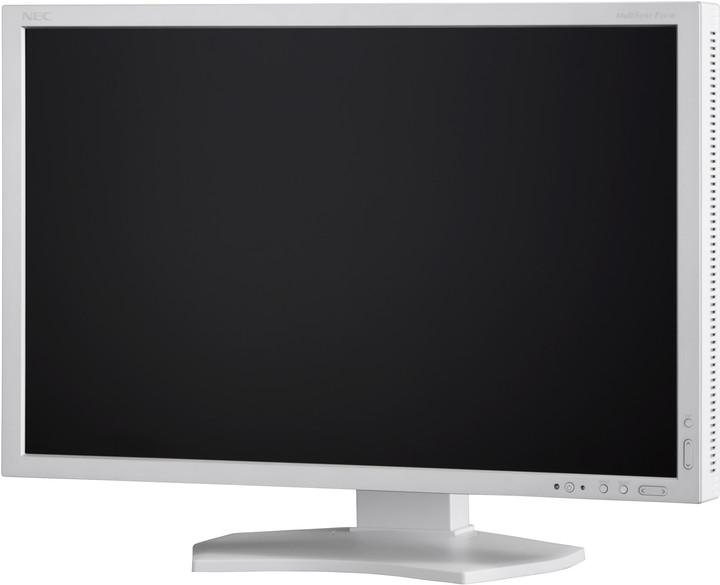 "NEC MultiSync P242W, stříbrná - LED monitor 24"""