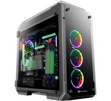 Thermaltake View 71 TG RGB Plus, Tempered Glass, černá CA-1I7-00F1WN-02