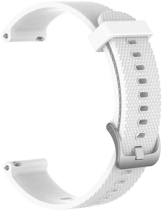 Tactical 573 silikonový řemínek pro Garmin VivoActive 4s, 18mm, bílá