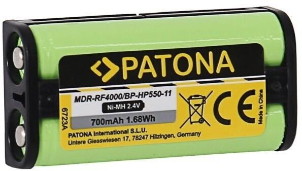 PATONA baterie pro sluchátka Sony BP-HP550-11, 700mAh, 2,4V, Ni-Mh