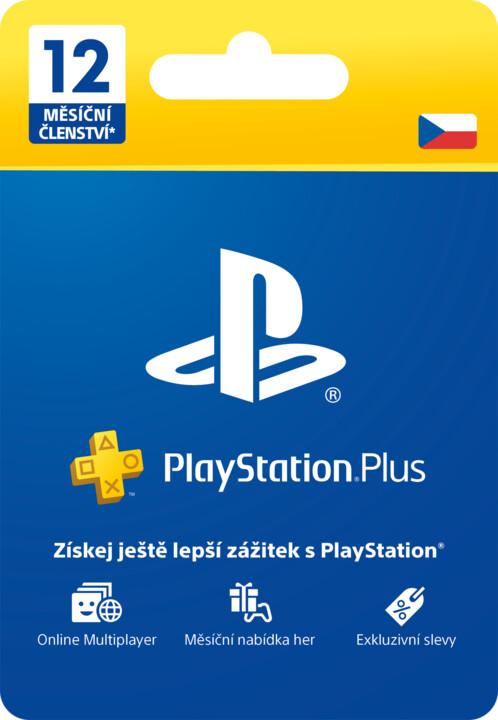 Playstation Plus 12 měsíců - Dárková karta