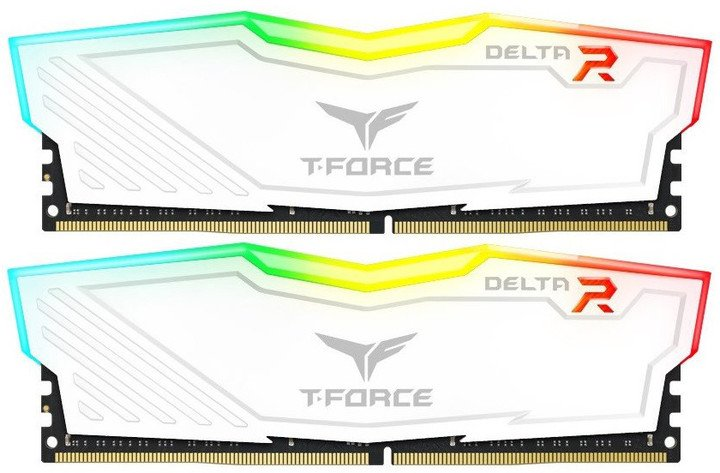Team T-FORCE Delta RGB 16GB (2x8GB) DDR4 2666, white
