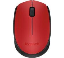 Logitech Wireless Mouse M171, červená - 910-004641
