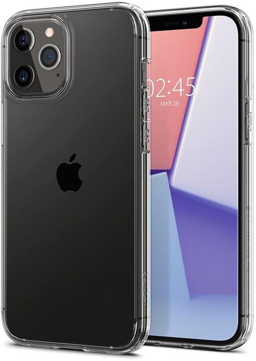 Spigen ochranný kryt Crystal Hybrid pro iPhone 12/12 Pro, transparentní