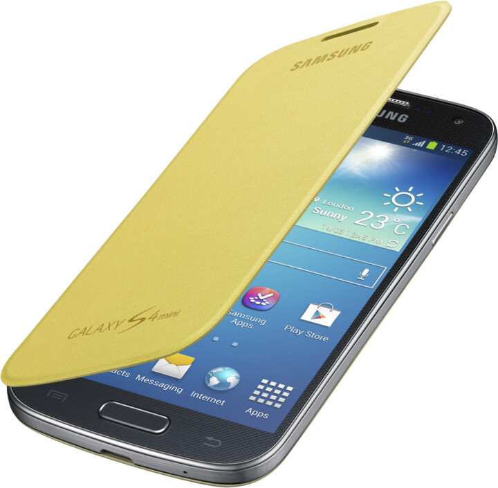 Samsung flipové pouzdro EF-FI919BY pro Galaxy S4 mini, žlutá
