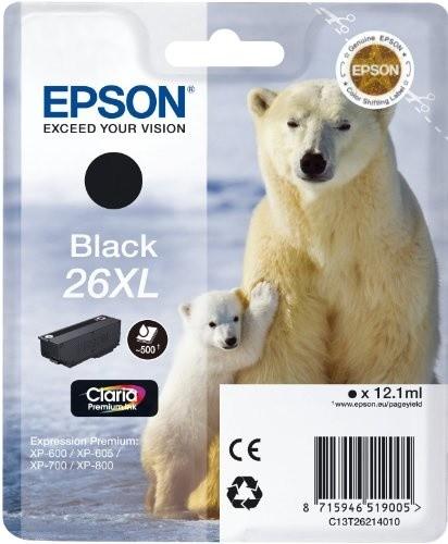 Epson C13T26214010, XL, černá
