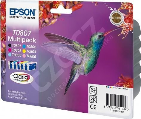 Epson C13T080740, multipack