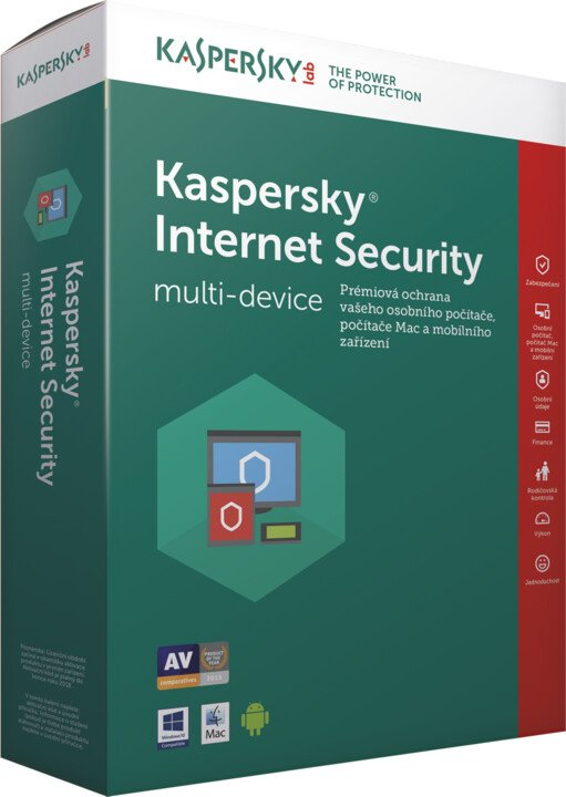 Kaspersky Internet-Security multi-device 2017 CZ pro 2 zařízení na 24 měsíců, obnovení licence