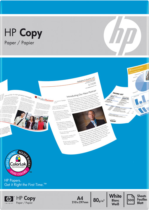 HP Copy CHP910, A4, 80g/m2, 500 listů
