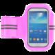 """Forever pouzdro na ruku 5.0"""" slim, látkové s reflexními prvky - růžové"""