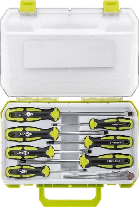 Goobay Set 8 přesných šroubováků - pro všechny běžné šroubovací a montážní práce