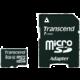 Transcend Micro SDHC 8GB Class 10 + adaptér