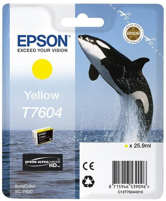 Epson T7604, (25,9ml), yellow