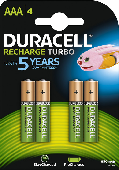 Duracell StayCharged AAA - 850 mAh, 4ks