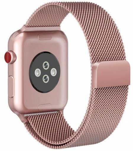 ESES milánský tah 42mm pro Apple Watch, růžová