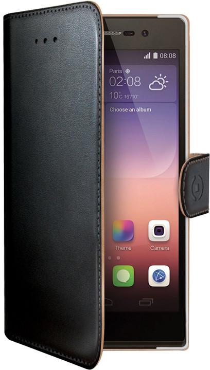 CELLY pouzdro typu kniha Wally pro Huawei P8 Lite, PU kůže, černá