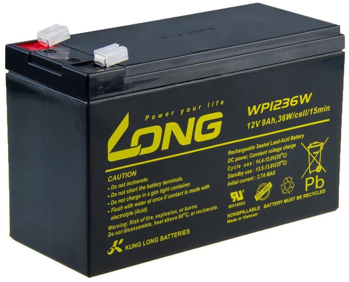 Avacom baterie Long 12V/9Ah, olověný akumulátor HighRate F2