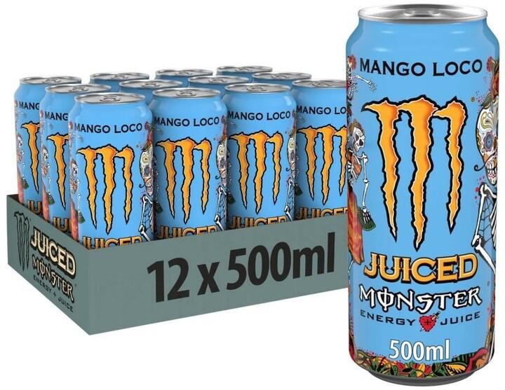 Monster Juice Mango Loco, energetický, mango, 500 ml, 12ks