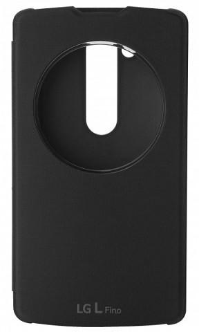 LG QuickCircle CCF-550 flipové pouzdro pro LG L Fino, černá