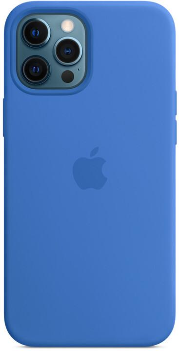 Apple silikonový kryt s MagSafe pro iPhone 12 Pro Max, modrá