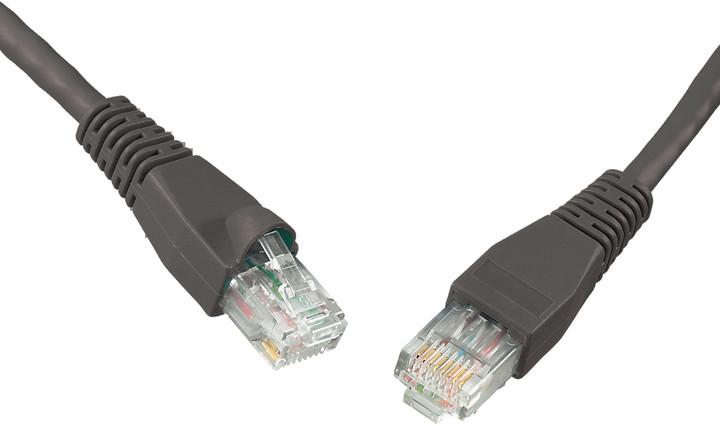 Solarix Patch kabel CAT6 UTP PVC 0,5m černý snag-proof