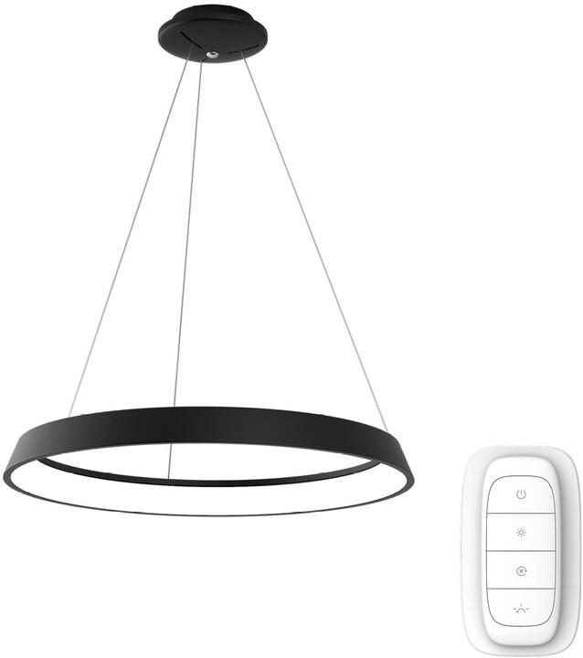 IMMAX NEO LIMITADO Smart závěsné svítidlo 80cm 48W černé Zigbee 3.0