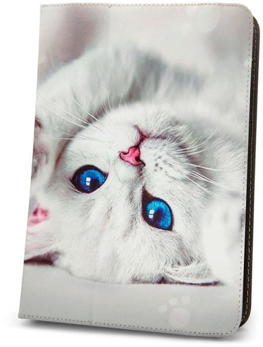 """GreenGo flipové pouzdro Cute Kitty pro tablet 9-10"""", univerzální"""