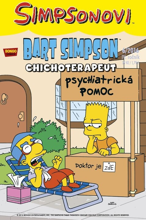 Komiks Bart Simpson, Chichoterapeut, 6/2016