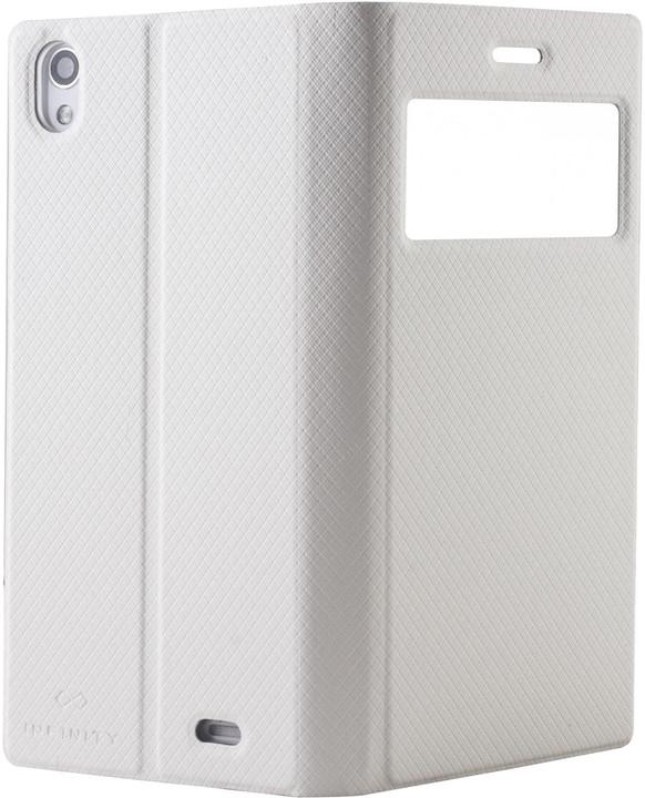 myPhone pouzdro s flipem pro Infinity 3G, bílá