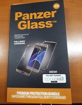 PanzerGlass - Ochrana obrazovky - zlatá, křišťálově čistá - pro Samsung Galaxy S7 edge