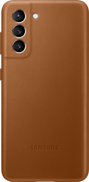 Samsung kožený kryt pro Galaxy S21, hnědá