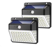 Viking venkovní světlo D82, LED, solární, s pohybovým senzorem, černá