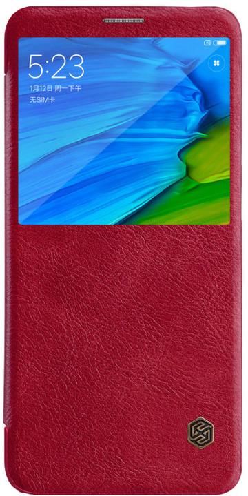 Nillkin Qin S-View Pouzdro pro Xiaomi Redmi Note 5, červený