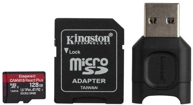 Kingston Micro SDXC Canvas React Plus 128GB 285MB/s UHS-II U3