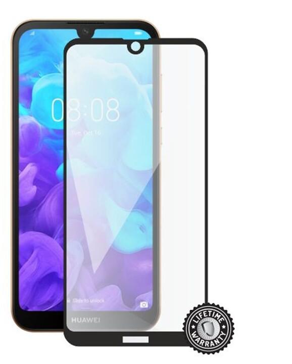 Screenshield ochrana displeje Tempered Glass pro Huawei Y5 (2019), Full Cover, černá