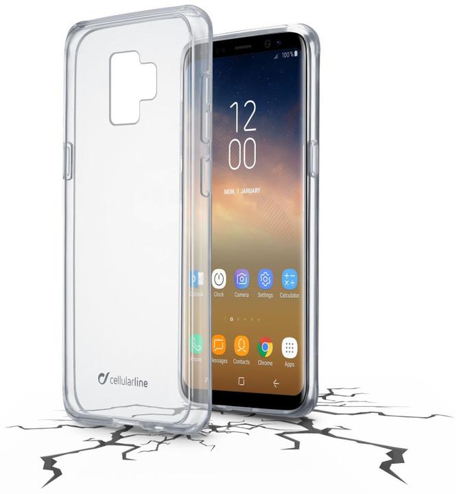 CellularLine zadní čirý kryt s ochranným rámečkem CLEAR DUO pro Samsung Galaxy S9 Plus