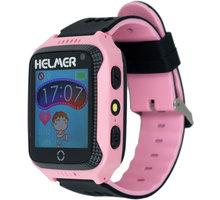 Helmer LK 707 dětské hodinky s GPS lokátorem s možností volání, fotoaparátem růžové - LOKHEL1035