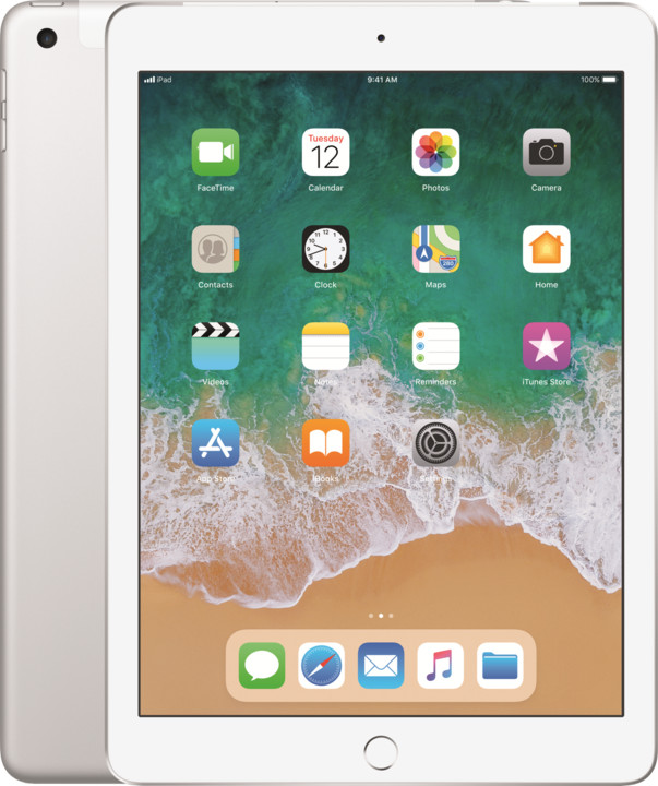 Apple iPad Wi-Fi + Cellular 128GB, Silver 2018