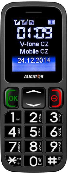 Aligator A320 Senior, šedá/černá