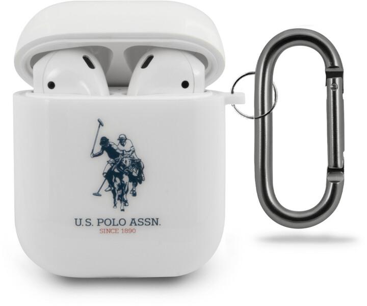 U.S. Polo silikonový kryt pro Airpods, bílá
