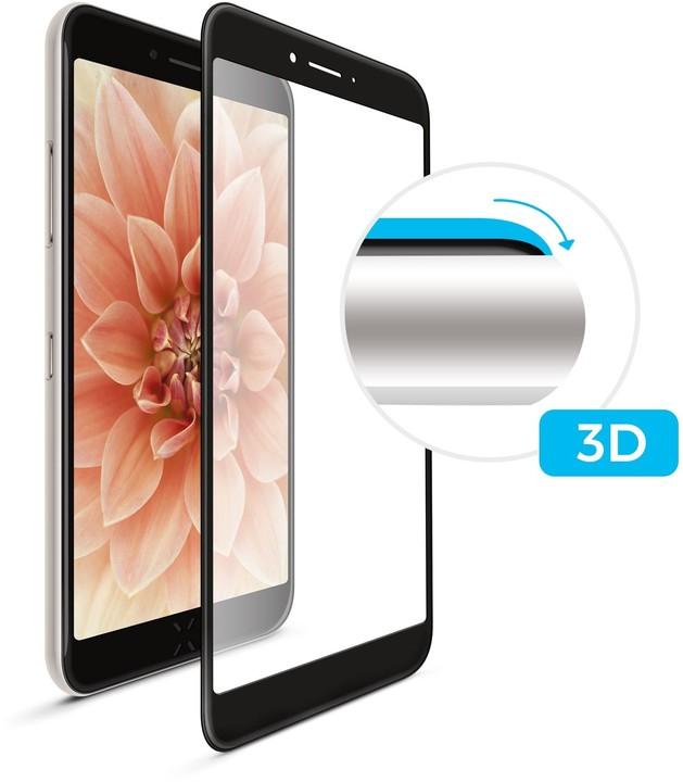 FIXED ochranné tvrzené sklo 3D Full-Cover pro Samsung Galaxy A40, s lepením přes celý displej, černá