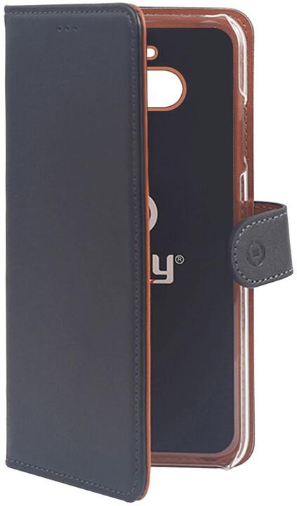 CELLY pouzdro typu kniha Wally pro Sony Xperia 10, PU kůže, černá