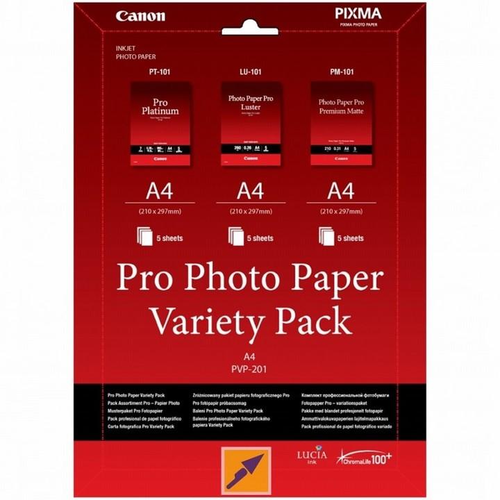 Canon Foto papír PVP-201, A4, 15 ks, Variety Pack