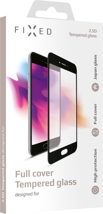 FIXED ochranné tvrzené sklo Full-Cover pro Xiaomi Redmi 9A/9C, přes celý displej, 0.33 mm, černá