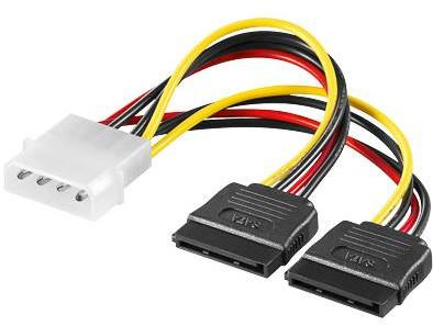 """PremiumCord napájecí adaptér kabelový 5,25"""" na 2x S-ATA"""