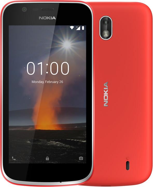 Nokia 1, Dual Sim, červená
